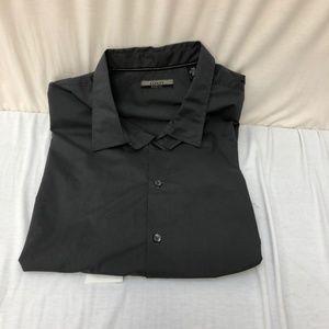 Alfani Mens Big & Tall 3XB Dress Shirt CHARCOAL BL